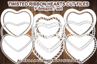 Print on Demand: Twisted Ribbon Heart Frame SVG Cut Files Graphic Illustrations By V-Design Creator