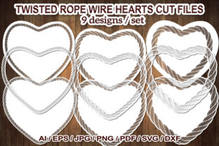 Print on Demand: Twisted Rope Wire Heart SVG Cut Files Graphic Illustrations By V-Design Creator