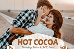 Print on Demand: 10 Hot Cocoa Photoshop Actions Graphic Actions & Presets By Mattte Studio