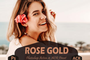 Print on Demand: 10 Rose Gold Photoshop Actions Graphic Actions & Presets By Mattte Studio