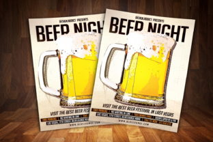 Beer Night Party Flyer Graphic Print Templates By MintDesign