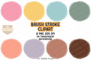 Print on Demand: Brush Stroke Circles Clipart Set Graphic Illustrations By SineDigitalDesign