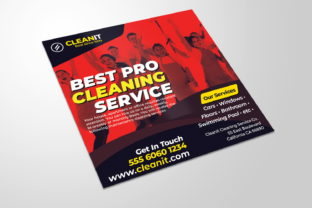 Cleaning Service Flyer Graphic Print Templates By MintDesign