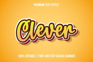 Print on Demand: Clever 3d Yellow Text Effect Templates Graphic Layer Styles By eddyinside