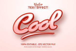 Print on Demand: Cool Text, Cartoon Style Text Effect Graphic Layer Styles By Mustafa Bekşen