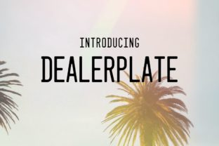 Print on Demand: Dealerplate California Sans Serif Font By Typodermic