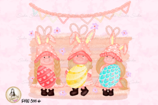 Print on Demand: Easter Cute Gnomes Sublimation Graphic Illustrations By Suda Digital Art