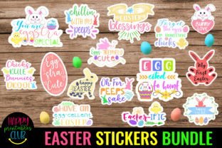 Easter Stickers Bundle Pack- Easter Graphic Crafts By Happy Printables Club
