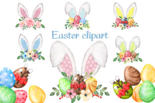 Easter Bunny Ears. Easter Eggs Png. Graphic Add-ons By EvArtPrint