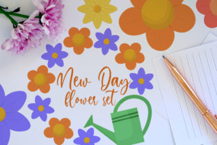 Flower Clipart Set Graphic Illustrations By Firefly Designs