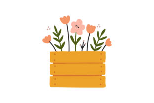 Print on Demand: Gardening Planting & Growing Wooden Box Gráfico Ilustraciones Por Musbila