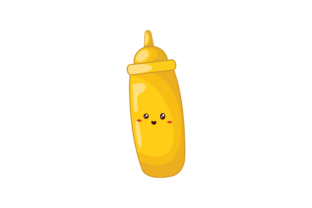 Kawaii Cute Bottle of Sauce Graphic Illustrations By Soe Image