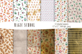 Print on Demand: Magic School Grunge Digital Paper Pack Graphic Backgrounds By Tiana Geo