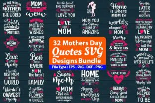 Print on Demand: Mothers Day SVG Design Bundle Graphic Print Templates By Design Store