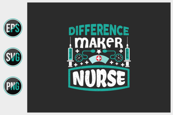 Print on Demand: Nurse T Shirts Design Vector Graphic. Graphic Print Templates By ajgortee