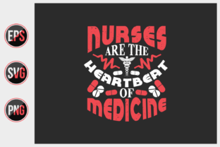 Print on Demand: Nurse Typographic T Shirt Design. Graphic Print Templates By ajgortee