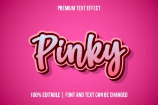 Print on Demand: Pinky 3d Editable Text Effect Templates Graphic Layer Styles By eddyinside