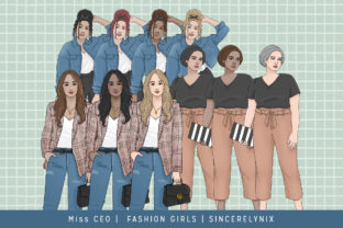 Planner Girl Fashion Clipart Graphic Illustrations By SincerelyNix