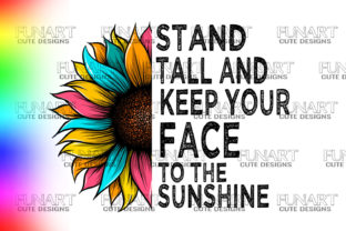 SUNFLOWER DESIGN,GOOD QUOTES ,COLORS,PNG Graphic Illustrations By Fundesings