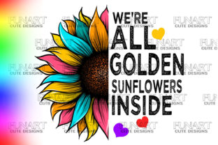 SUNFLOWER DESIGN,QUOTES SUBLIMATION PNG Graphic Illustrations By Fundesings