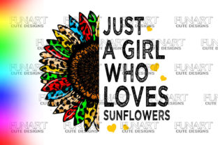 Just a Girl Who Loves Sunflowers Gráfico Ilustraciones Por Fundesings
