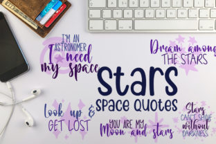 Stars and Space Quotes Graphic Crafts By Firefly Designs
