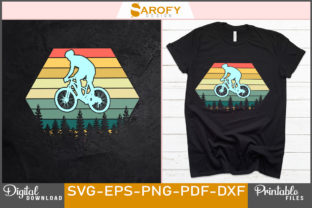 Print on Demand: Vintage Cycling Silhouette Design Svg Graphic Print Templates By Sarofydesign