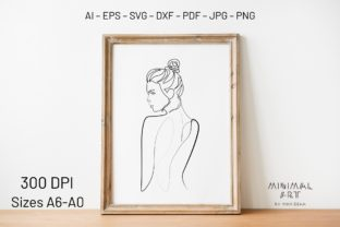Print on Demand: Wall Art / Continuous Line, Woman Svg Graphic Illustrations By Momixzaa