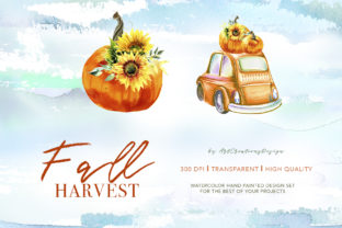 Watercolor Fall Harvest Design Set Graphic Illustrations By artcreationsdesign 2