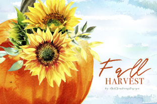 Watercolor Fall Harvest Design Set Graphic Illustrations By artcreationsdesign 3