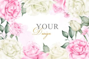 Print on Demand: Watercolor Floral Background Template Graphic Scene Generators By FederiqoEND