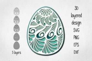 Print on Demand: 3D Layered Easter Ornament Graphic 3D Shapes By Eva Barabasne Olasz