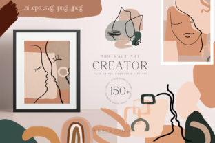 Abstract Art Organic Shape Creator Lines Graphic Illustrations By Busy May Studio