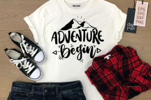 Adventure Begin Lettering Quotes SVG Graphic Crafts By dapiyupi