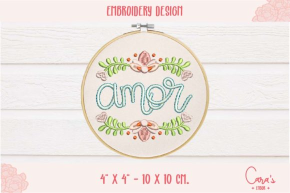 Amor Valentine's Day Embroidery Design By carasembor