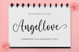 Print on Demand: Angellove Script & Handwritten Font By NissaStudio
