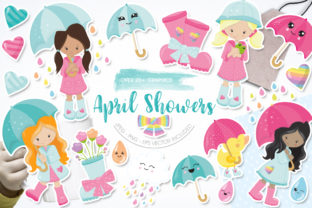 Print on Demand: April Showers Graphic Graphic Templates By Prettygrafik
