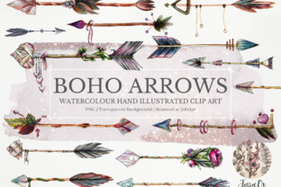 Print on Demand: Boho Arrows Clip Art Set Graphic Illustrations By Jessaox