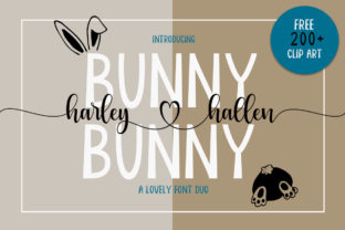 Print on Demand: Bunny Harleyhellen Script & Handwritten Font By Fadlilah Studio