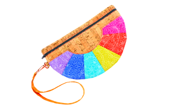 Color Wheel Clutch in the Hoop Accessories Embroidery Design By Sookie Sews