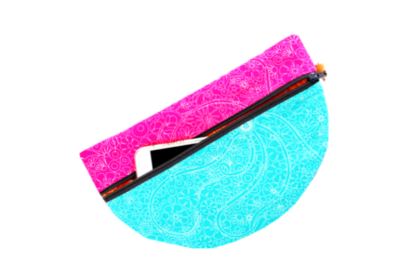 Color Wheel Clutch in the Hoop Embroidery Download