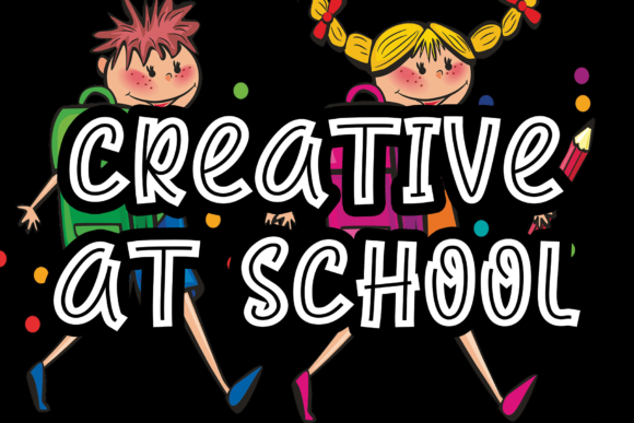 Print on Demand: Creative at School Display Font By Roronoa zoro.S.P.D