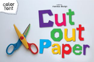 Print on Demand: Cut out Paper Color Fonts Font By maneka