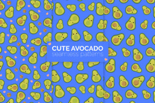 Cute Avocado Seamless Patterns Graphic Patterns By 3Y_Design 1