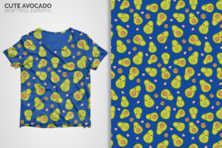 Cute Avocado Seamless Patterns Graphic Patterns By 3Y_Design 2