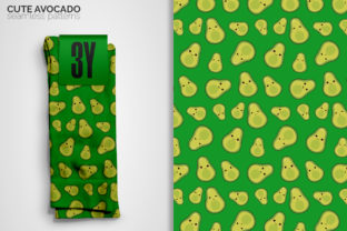 Cute Avocado Seamless Patterns Graphic Patterns By 3Y_Design 3
