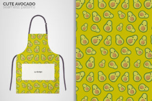 Cute Avocado Seamless Patterns Graphic Patterns By 3Y_Design 4