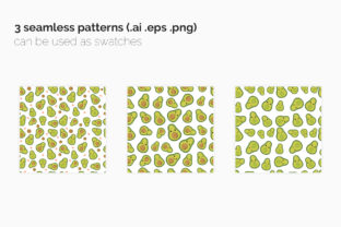 Cute Avocado Seamless Patterns Graphic Patterns By 3Y_Design 5