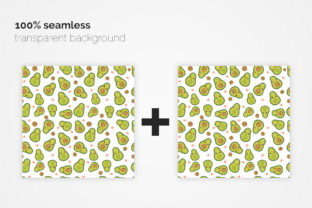 Cute Avocado Seamless Patterns Graphic Patterns By 3Y_Design 6