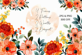 Print on Demand: Digital Clipart Floral Watercolor Part21 Graphic Illustrations By asrulaqroni